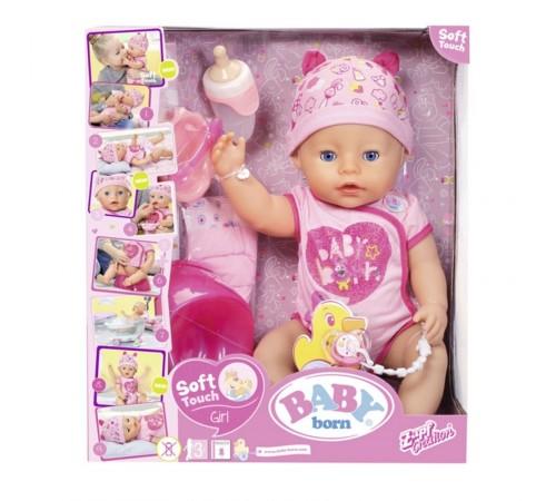 zapf creation 824368  Интерактивная кукла baby born soft touch