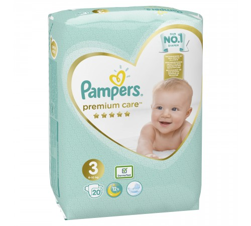 pampers premium care 3 (6-10 кг.) 20 шт.