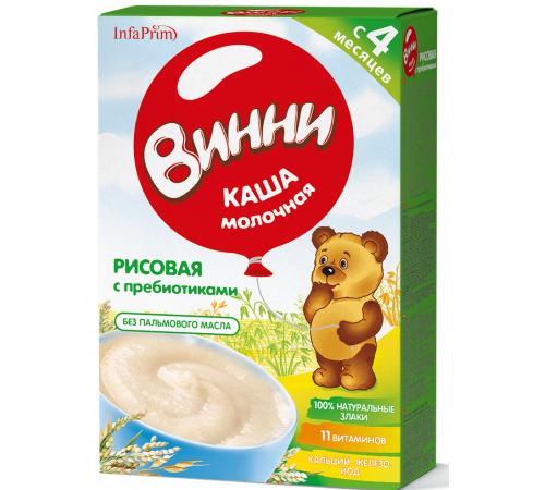 Винни Каша молочная Рисовая с пребиотиками (4м+) 200 гр.