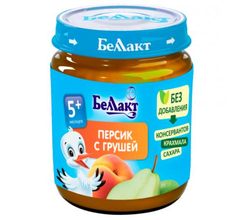 Детское питание в Молдове Беллакт Пюре из персиков и груш 100 гр. (5 м. +)