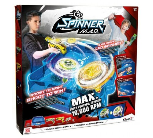 "Jucării pentru Copii - Magazin Online de Jucării ieftine in Chisinau Baby-Boom in Moldova spinner m.a.d. 86331 set de blastere cu arena ""fulger și furtună"""