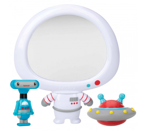 """nuby nv08005 Набор игрушек для купания """"Зеркало космонавта"""""""