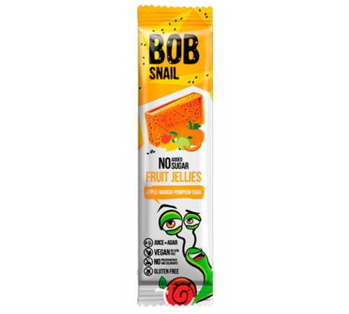 "bob snail marmeladă naturală ""mere-mango-dovleac-chia"" (38 gr.)"