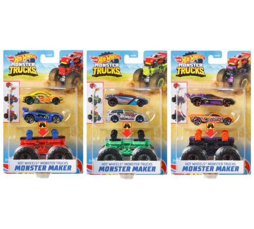 "hot wheels gww13 set de 2 mașini ""monster creator"" seria ""monster trucks"" in sort"