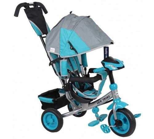 baby mix ur-xg-6519-t16 gr blue triciclu lux albastru/gri