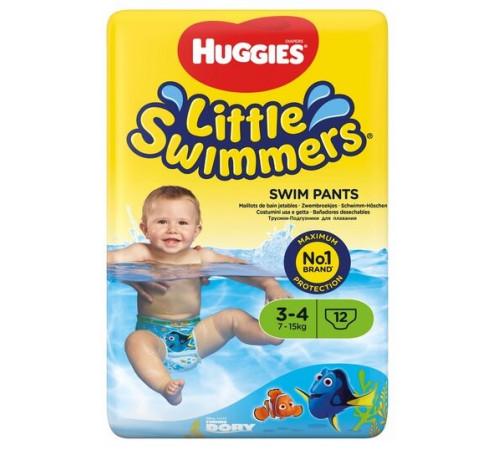 huggies little swimmers chiloței de înot 3-4 (7-15 kg.) 12 buc.