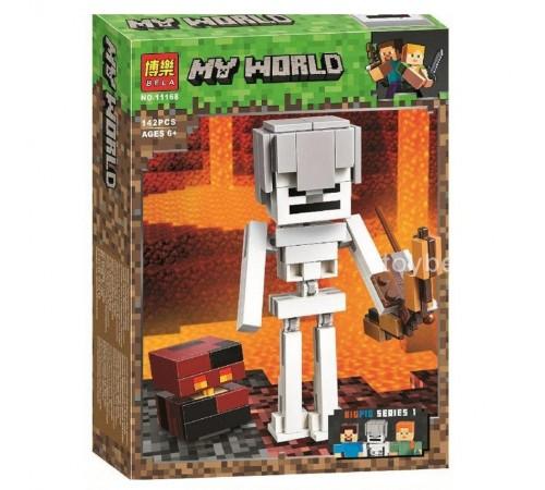 """bela РД02.207 Конструктор """"my world"""" cкелет с кубом магмы (142 дет.)"""