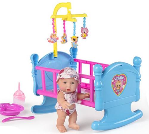 Детскиймагазин гусь-гусь в Кишиневе в Молдове color baby 43317 Пупс в кроватке 18см в ассортименте2