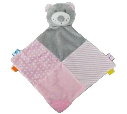 """baby mix stk-19421 pb jucarie de plus """"ursulet"""" roz"""