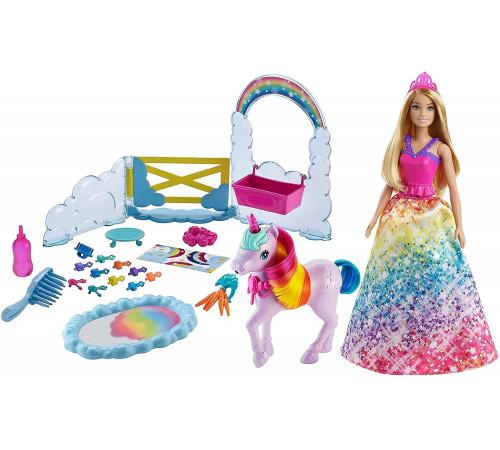 """Детскиймагазин в Кишиневе в Молдове barbie gtg01 Игровой набор """"Дримтопия"""" Кукла и единорог"""