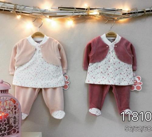 Одежда для малышей в Молдове twetoon baby  Комплект велюровый 2ед. (штанишки и батник) 118103