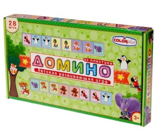 """colorplast 0925 Детская игра """"Домино: Животные"""""""