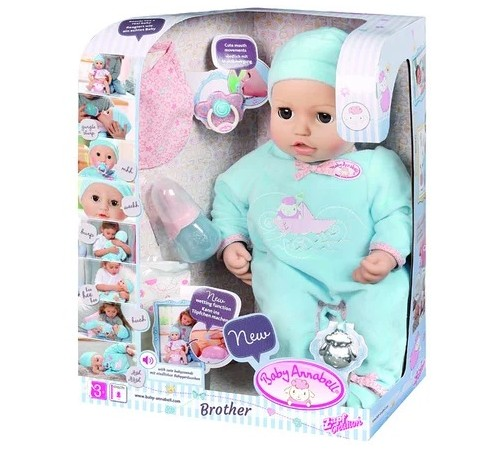 zapf creation 794654 Интерактивная кукла baby annabell  Александр (43 см.)