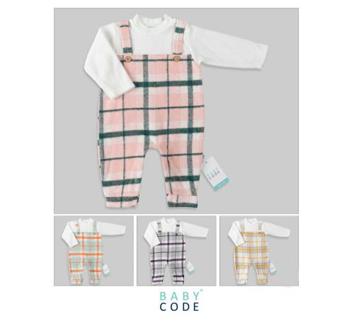 Одежда для малышей в Молдове baby code 347032 Комбинезон в клетку (6-9-12-18-24 р.) в асс.