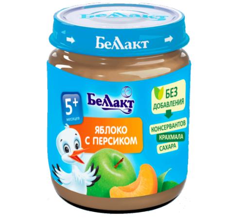 Детское питание в Молдове Беллакт Пюре из яблок и персиков 100 гр. (5 м. +)