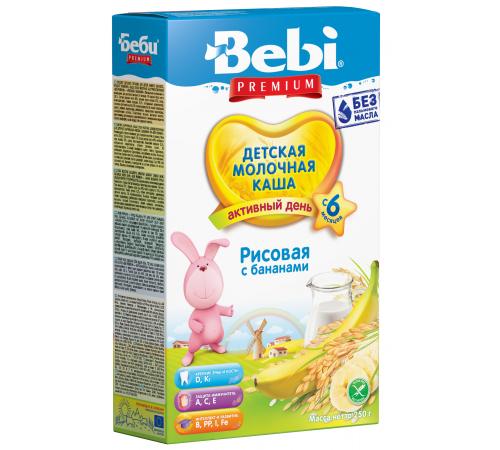 Детское питание в Молдове bebi Молочная рисовая каша с бананам (6+) 250 гр.