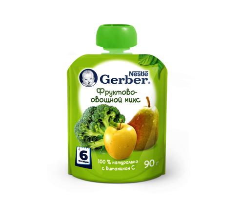 Детское питание в Молдове gerber пюре Фруктово-овощной микс 90 гр