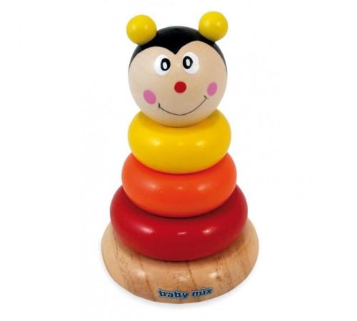 baby mix tp-c-142 piramidă din lemn albină