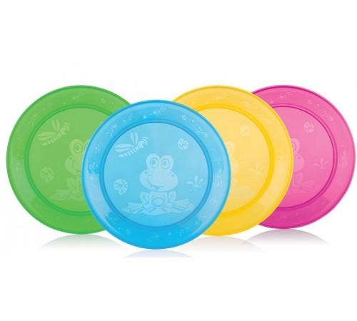 nuby id65670 Набор тарелок (4 шт.)