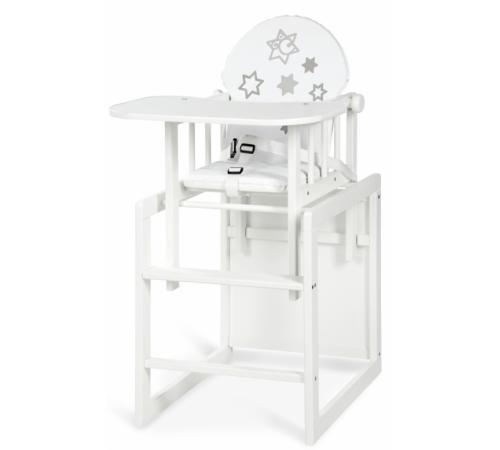 klups scaun-transformator din lemn agnieszka iii stele alb