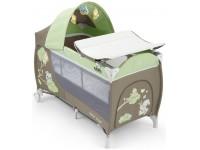cam Манеж-кровать daily plus 225 коричнево/зеленый