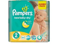 pampers new baby 2 (4-8 kg.) 94 buc.