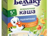 Беллакт каша б/мол. пшеничная с абрикосом и яблоком  200г (190110000)