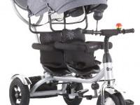 chipolino Трицикл для близнецов  2play trk2p0212mt серый
