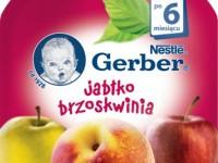 gerber Пюре «Яблоко-персик»  90 гр. (6+)