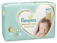 pampers premium care 0+ (<3 кг.) 30 шт.