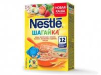 nestle молочная ШАГ 5 злаков Яблоко-Земляника-персик 9*220 гр