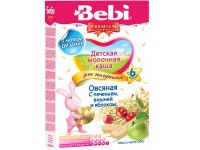 bebi Каша овсяная для полдника с печеньем вишней и яблоком 200gr.(6+)