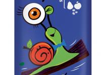 """bob snail Натуральные конфеты Яблочно-Грушевый-Черничный страйп""""(14 гр.)"""