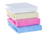 klups cearceaf pentru pat cu elastic (140x70) alb
