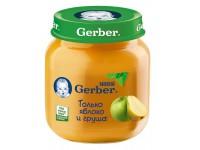 gerber piure din mere şi pere 130gr.(5+)
