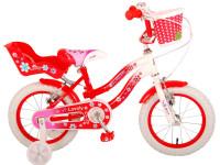 "volare 2049 Велосипед 14 ""lovely"" красный/белый"
