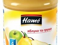 hame Пюре Яблоко и груша 190gr. (4m+)