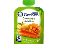 gerber пюре Солнечный коктейль 90 гр