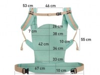 kinderkraft Рюкзак-переноска nino мята