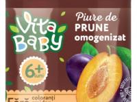 orhei-vit piure din prune cu zahar 180gr.(6+)