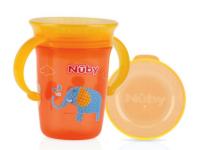 nuby  id10410 Чашка тренировочная с ручками 240мл